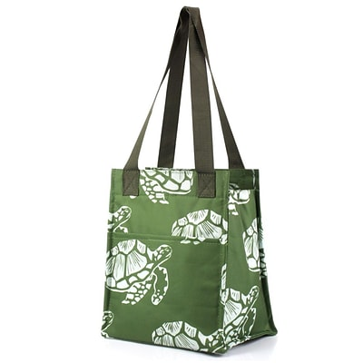 Zodaca Insulated Lunch Bag Cooler Picnic Travel Food Box Women Tote Zipper Carry Bags - Turtle