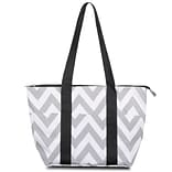 Zodaca Fashion Large Insulated Lunch Bag Women Tote Cooler Picnic Travel Food Box Carry Bags - Gray