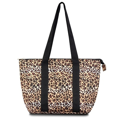 Zodaca Fashion Large Insulated Zip Top Lunch Bag Women Tote Cooler Picnic Travel Food Box Carry Bags - Leopard