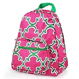 Zodaca Bright Stylish Kids Small Backpack Outdoor Shoulder School Zipper Bag Adjustable Strap - Pink