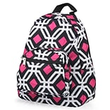 Zodaca Bright Stylish Kids Small Backpack Outdoor Shoulder School Zipper Bag Adjustable Strap - Blac