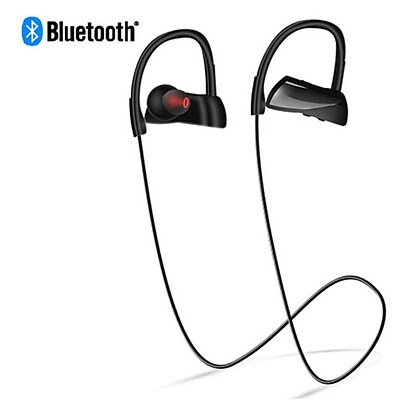Insten Rechargeable IPX7 Waterproof Wireless Bluetooth Sports Stereo Handsfree Headset for Phones/Tablet/Laptops - Black