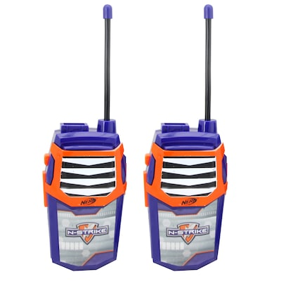 Nerf WT3 01056 Night Action 2 in 1 Walkie Talkies with Built In Flashlight