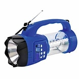 Quantum FX Emergency Flashlight/Lantern with FM Radio 10x6x4.5 (CS-180-BLU)