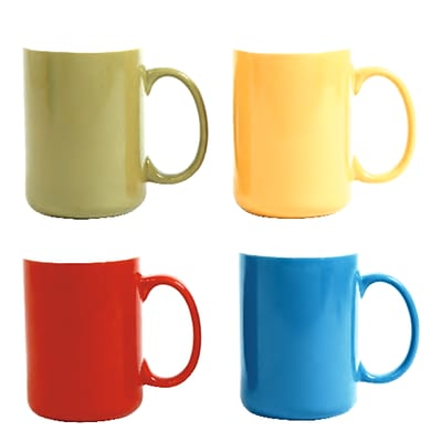 Gibson 91867.01 Color Artistry 17 oz Mugs Set of 4 (91867.01)