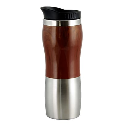 Gibson Home 92265.02 Double Wall Monaco Cafe Travel Mug with Lid (92265.02)