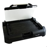 Megachef Reversible Indoor Grill and Griddle with Removable Glass Lid Black (MCG-106)