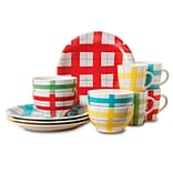 General Store 12-Piece Stoneware Dinnerware Set Assorted Colors 107179.12