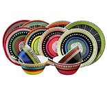 Gibson Almira 12-Piece Melamine Dinnerware Set Multicolor 107282.12