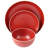 Gibson Home Rockaway 12-Piece Stoneware Dinnerware Set Red 118317.12