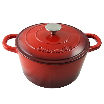 Crock-Pot Artisan  Cast Iron  11.50 x 10.80 Self-Basting Dutch Oven Scarlet Red (69141.02)