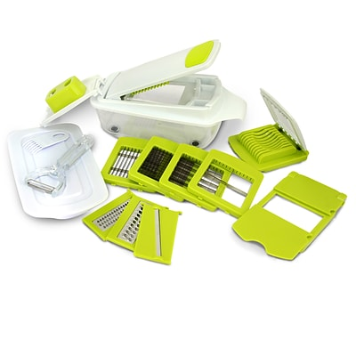 MegaChef 8-in-1 Multi-Use Slicer Dicer and Chopper with Interchangeable Blades (MG-MULTI-SLICER-DICER)