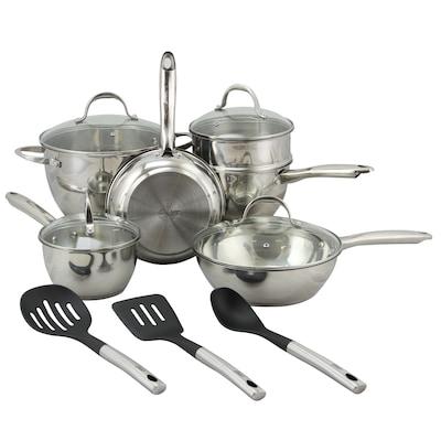 Oster Ridgewell Stainless Steel 13 Piece Cookware Set, Silver (109543.13)