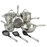 Oster Ridgewell Stainless Steel 13-Piece Cookware Set, Silver (109543.13)