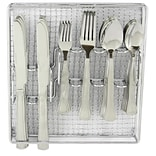 Gibson Home 109535.61 Grand Abby Stainless Steel 61-Piece Flatware Set