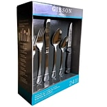 Gibson Home 52853.24 South Bay Plus Stainless Steel 24-Piece Flatware Set