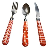 Gibson Home 112091.12 Retro Diner  Stainless Steel 12-Piece Flatware Set
