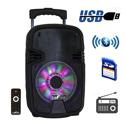 beFree Sound BFS-3000 8 Inch Bluetooth Portable Party Speaker Black