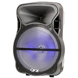 Quantum FX PBX-61151 15 Battery Powered Bluetooth Portable Party Speaker Black