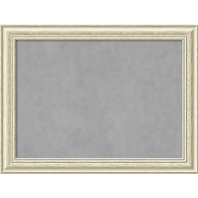 Amanti Art Framed Magnetic Board Large Country White Wash 33 x 25 Frame Cream (DSW3979327)