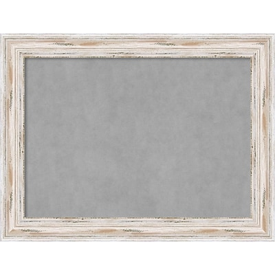 Amanti Art Framed Magnetic Board Large Alexandria White Wash 33 x 25 Frame White (DSW3979462)