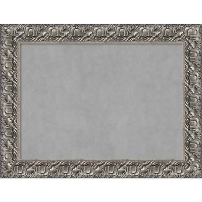 Amanti Art Framed Magnetic Board Large Silver Luxor 34 x 26 Frame Silver (DSW3980488)