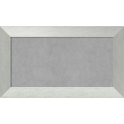 Amanti Art Framed Magnetic Board Medium Brushed Sterling Silver 28 x 16 Frame Silver (DSW3982818)