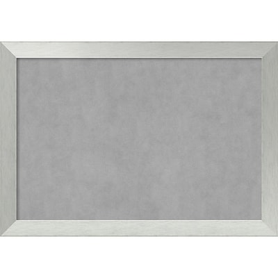 Amanti Art Framed Magnetic Board Extra Large Brushed Sterling Silver 40 x 28 Frame Silver (DSW3982819)