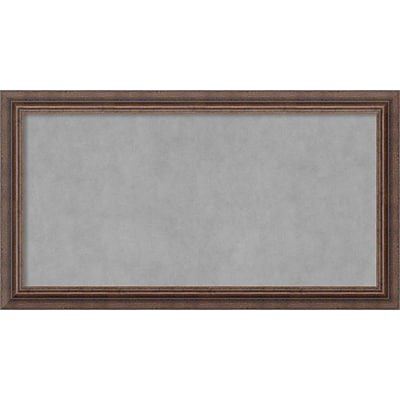 Amanti Art Framed Magnetic Board Medium Distressed Rustic Brown 27 x 15 Frame Brown (DSW3982842)