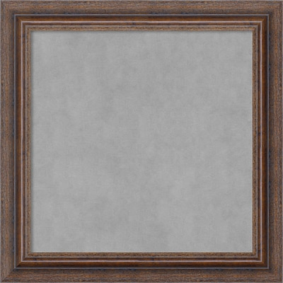 Amanti Art Framed Magnetic Board Small Distressed Rustic Brown 15 x 15 Frame Brown (DSW3982844)