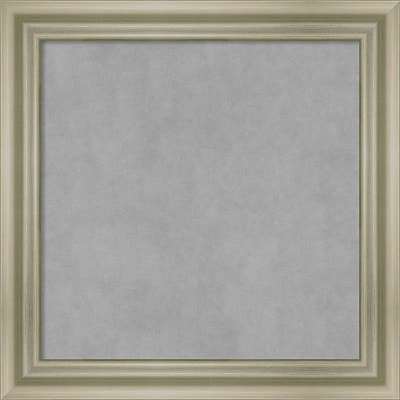 Amanti Art Framed Magnetic Board Small Warm Silver Swoop 14 x 14 Frame Silver (DSW3994660)