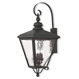 Livex Lighting 4-Light Black Outdoor Wall Mount Lantern (2036-04)