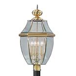 Livex Lighting 4-Light Antique Brass Outdoor Post Lantern (2358-01)
