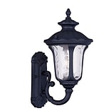 Livex Lighting 1-Light Black Outdoor Wall Lantern with Clear Water Glass (7850-04)