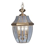 Livex Lighting 3-Light Antique Brass Outdoor Pendant-Light (2355-01)