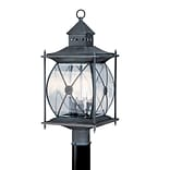 Livex Lighting 3-Light Outdoor Grey Post Lantern (2096-61)