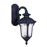 Livex Lighting 1-Light Black Outdoor Wall Lantern with Clear Water Glass (7851-04)