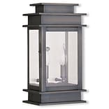 Livex Lighting 2-Light Outdoor Vintage Pewter Wall Lantern (2014-29)