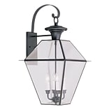 Livex Lighting 4-Light Black Outdoor Wall Lantern with Clear Beveled Glass (2386-04)