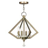 Livex Lighting 4-Light Antique Brass Chandelier (50664-01)