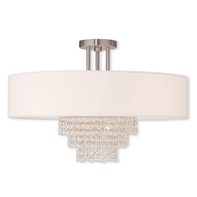 Livex Lighting 5-Light Brushed Nickel Flush Mount (51029-91)