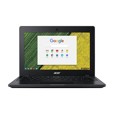 Acer 1366 x 768 11.6 LCD Touchscreen Chromebook with Intel Celeron 3855U Dual-core 1.6 GHz, 4GB RAM, 32GB Flash Storage, Black