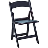 Advantage Mahogany Resin Folding Chairs (RFWCA-102)