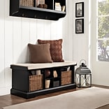 Crosley Brennan Entryway Storage Bench In Black (CF6003-BK)