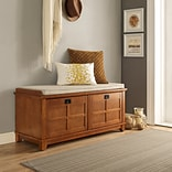 Crosley Adler Entryway Bench In Warm Oak Finish (CF6009-WO)