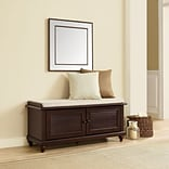 Crosley Palmetto Entryway Bench In Espresso Finish (CF6010-ES)