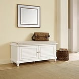 Crosley Palmetto Entryway Bench In White Finish (CF6010-WH)