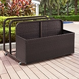 Crosley Palm Harbor Outdoor Wicker Float Caddy (CO7303-BR)