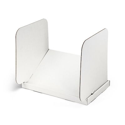 Classroom Products Tablet Privacy Shield Tablet Stand And Mini Carrel In One White (pack Of 20)