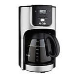 Mr. Coffee® BVMCJPX37 12 Cup Programmable Coffee Maker, Black/Silver
